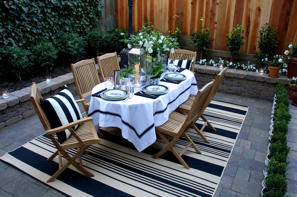 Elegant patio photo in San Francisco with no cover