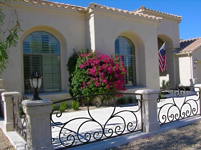 Scottsdale Front Patio in Authentic Durango Veracruz™ mediterranean-exterior