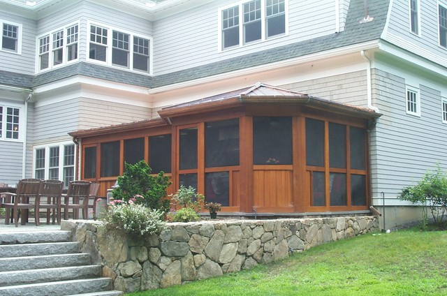 Screen Porch With Kitchen Contemporary Porch Boston