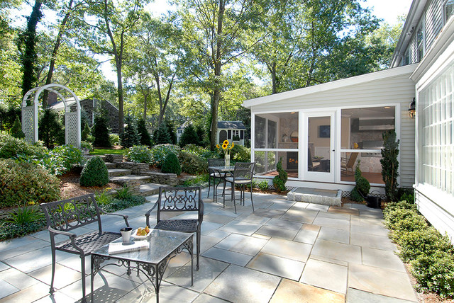 Backyard Room Additions : Screened Outdoor Family Room Addition  Traditional  Patio  boston
