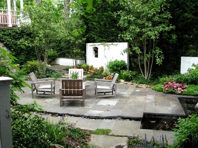 Sculpture garden rustic garden dc metro by plusen for Plusen landscape architects