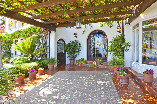 Most beautiful backyard gardens - Sea Lane Drive Malibu Rustic Patio Phoenix By Arto