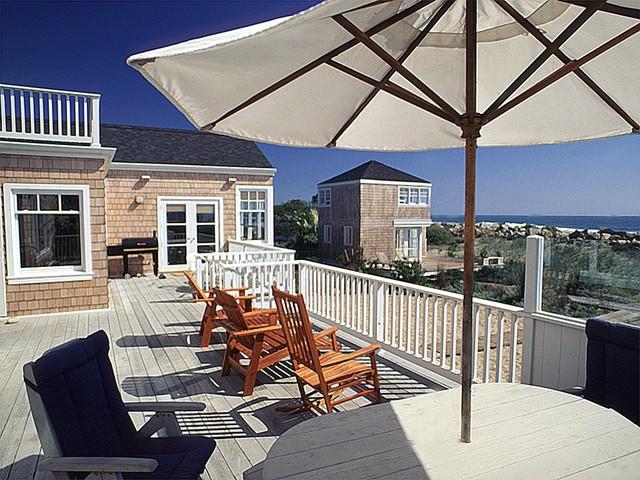 Seaman Beach House beach-style-patio