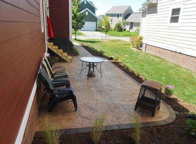 Seamless Slate Concrete Patio And Walkway - Traditional - Patio ...