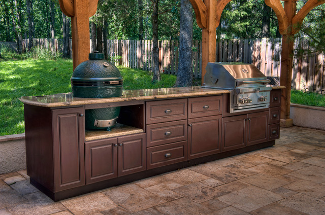 Select outdoor kitchen custom cabinets traditional for Outdoor grill cabinet design