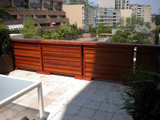 Superior Self Standing Fence Contemporary Patio
