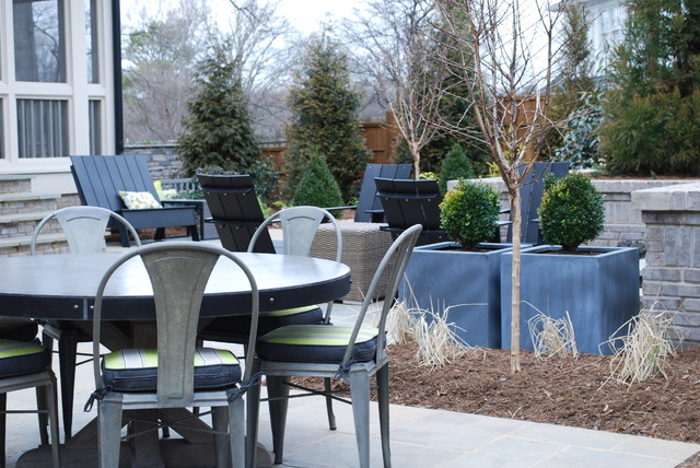 Inspiration for a contemporary patio remodel in Charlotte