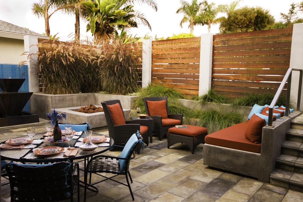 阳台灰色地板砖现代风格装饰效果图