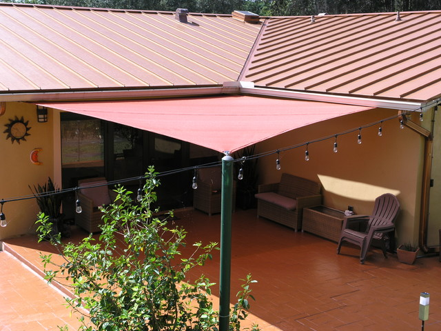 Shade Sails Coastal Patio