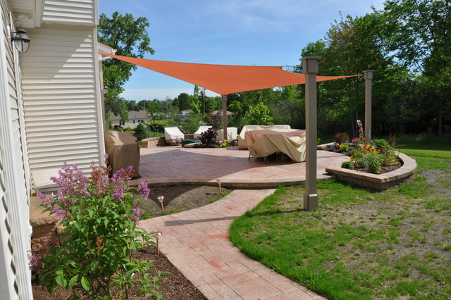 Garden Design With Shade Sails Traditional Patio Cleveland By Turf World  Co. With Diy Backyard