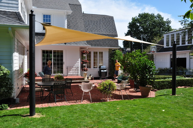 Shade Sails - Traditional - Patio - cleveland - by Turf World Co.