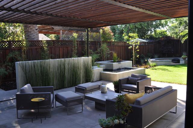 Shaded patio contemporary-patio