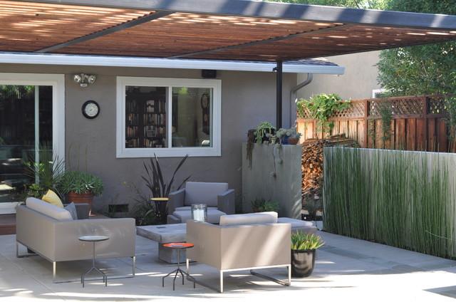 Shaded patio modern-patio