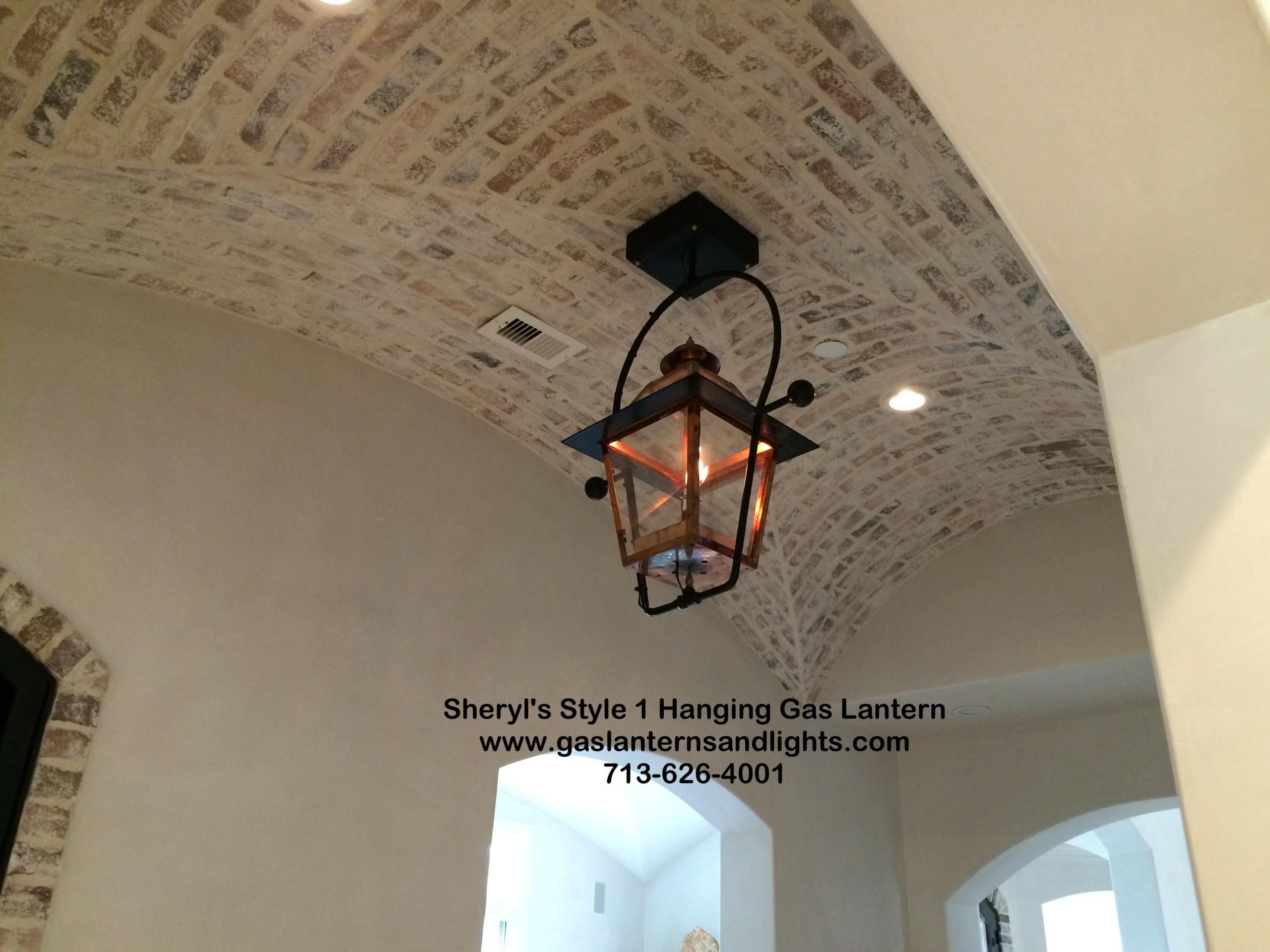 Sheryl's Style 1 Hanging Gas Lantern