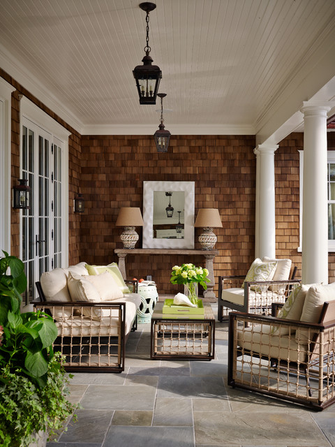 Shingle Style Victorian Patio Jacksonville By