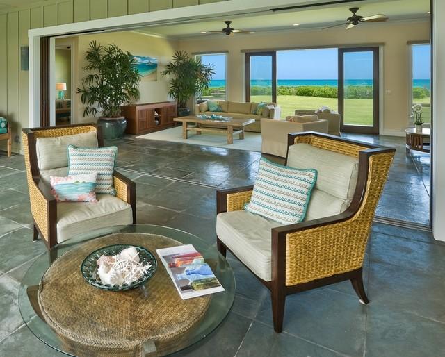Shorebreak tropical patio hawaii by archipelago for Archipelago hawaii luxury home designs