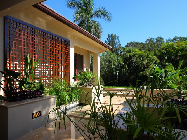 Siesta Key Zen Home - Asian - Patio - Other - by MGB Fine Custom Homes