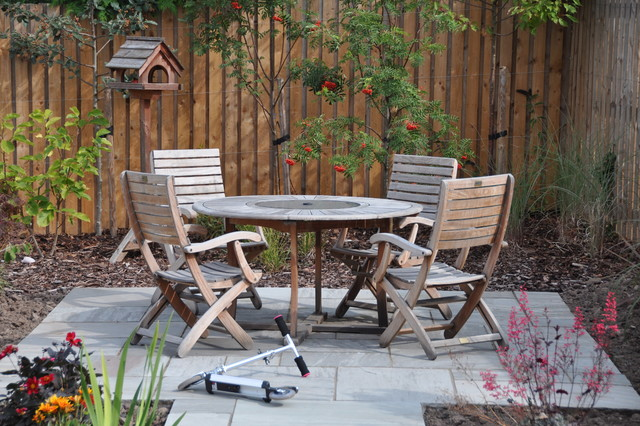 Silver Birch Sandstone Patio Traditional Patio Other