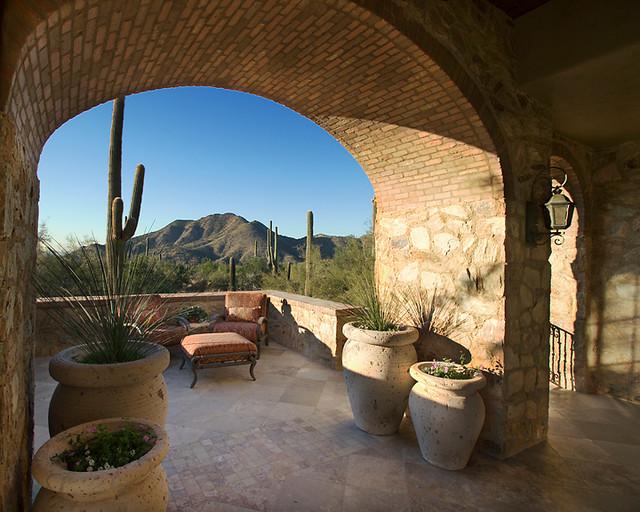 Silverleaf mediterranean mediterranean patio phoenix for Luxury outdoor living spaces