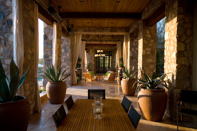 Silverleaf Ranch Hacienda Loggia Mediterranean Patio