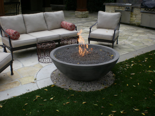 Amazing Simplciity Fire Bowl Eclectic Patio