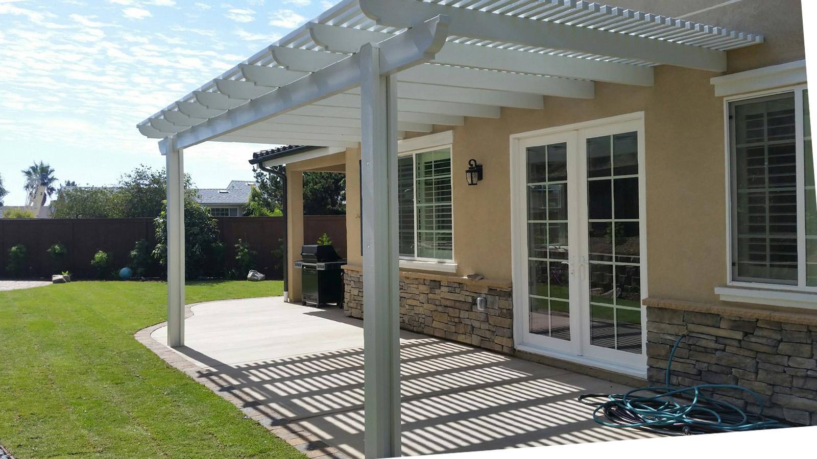 Aluminum Patio Cover Over Concrete Patio