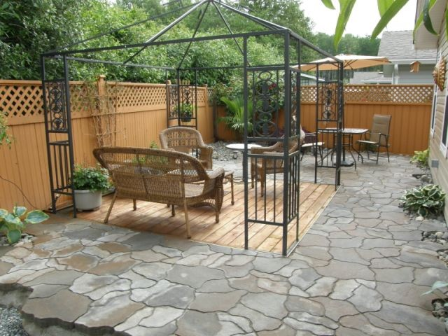 slate paver patio - contemporary - patio - vancouver - by Garden ...