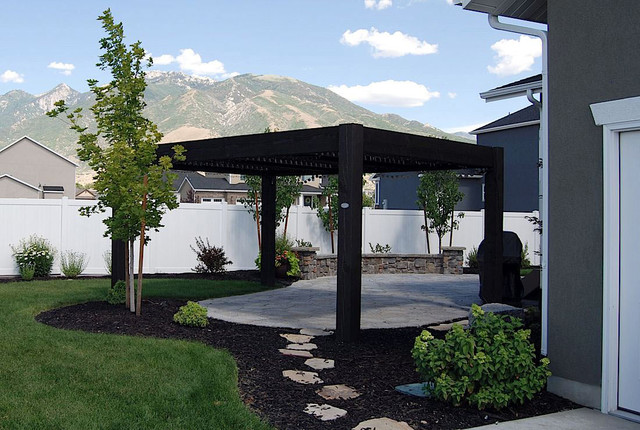 ... Garden Design With SLC Backyard Transformation With Pergola Arbor  Contemporary With Landscape Designs Ideas From Houzz