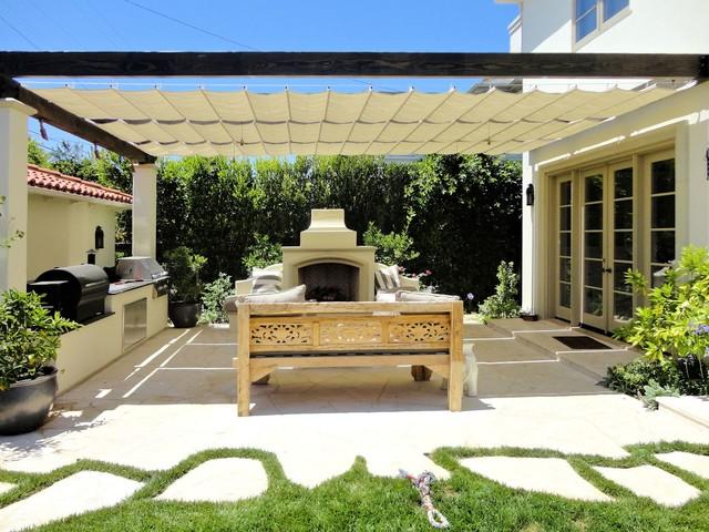 Attractive Slide Wire Canopy Mediterranean Patio