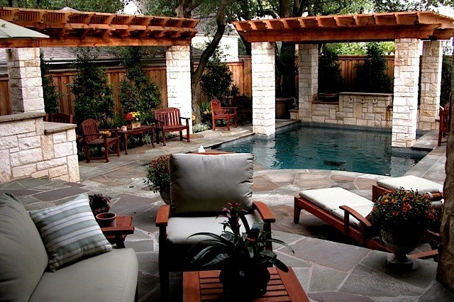Small Backyard Oasis traditional-patio