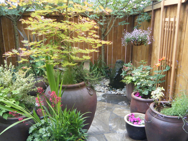 Garden Design With Small Backyards Traditional Patio Seattle By Puget Sound  With Flower Garden Images From