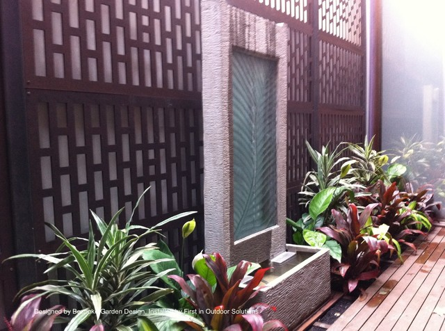 small courtyard garden asian patio melbourne by