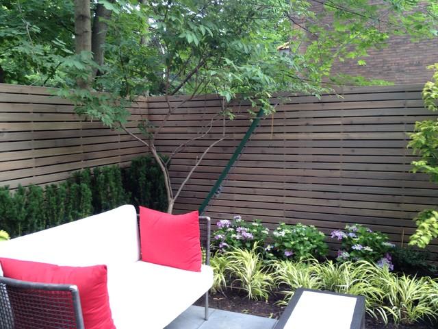 Small courtyard contemporary-patio