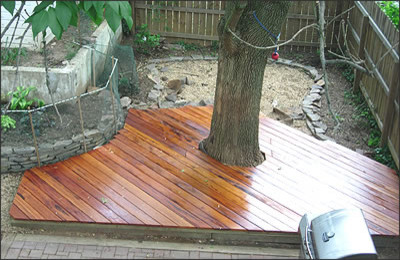 Small Deck For A Small Space Eclectic Patio Kansas