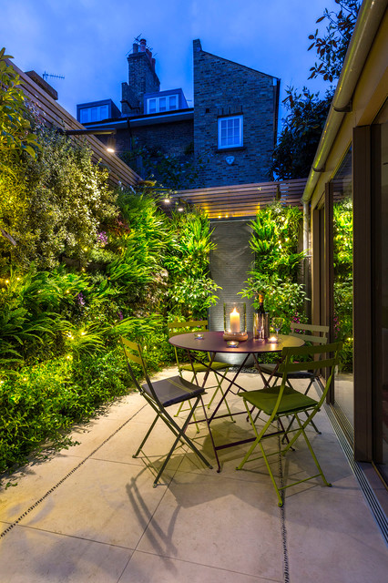 Small outdoor room with a green wall in kensington contemporary small outdoor room with a green wall in kensington contemporary patio aloadofball Gallery