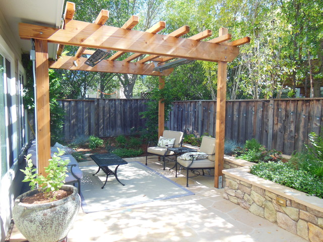 Small space big impact traditional patio san for Designing a garden space