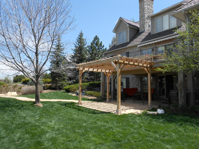 snowbird pergola mediterranean patio denver by. Black Bedroom Furniture Sets. Home Design Ideas