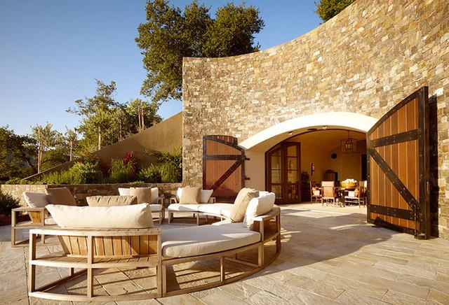 Soda Canyon Residence mediterranean-patio