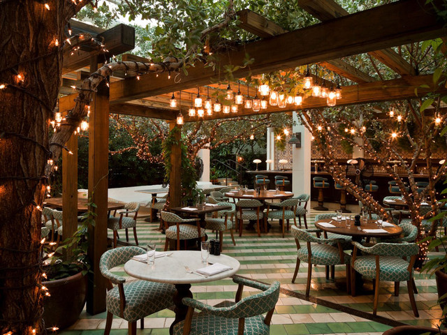 Soho Beach House Tropical Patio Miami By Raymond