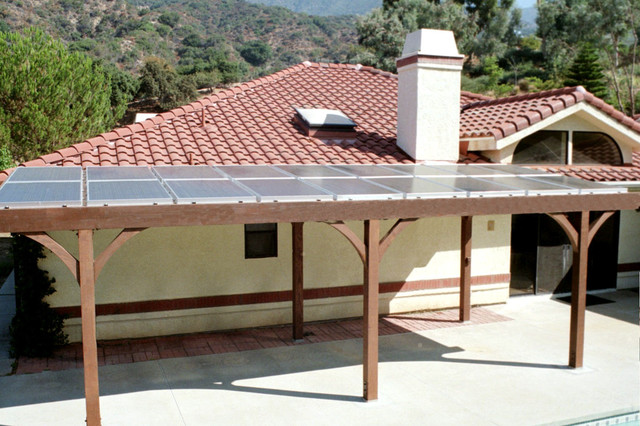 Solar Patio Cover Mediterranean Patio