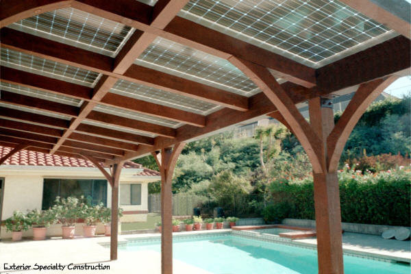 Solar Patio Cover Mediterranean