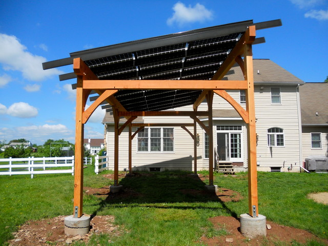 Solar Pergola Traditional Patio