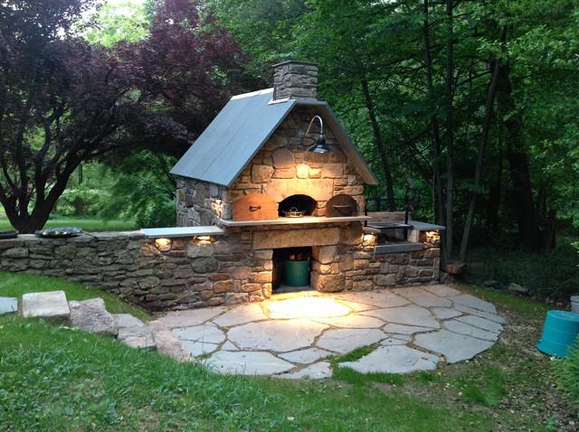 solebury wood burning brick oven and argentinian wood grill craftsman patio philadelphia. Black Bedroom Furniture Sets. Home Design Ideas