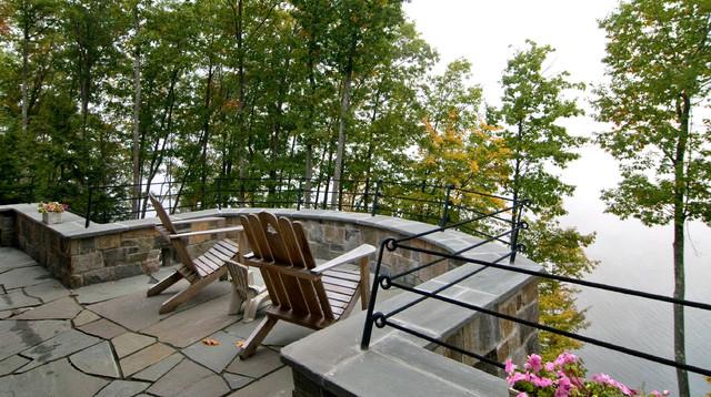 Solitude in Stone rustic-patio