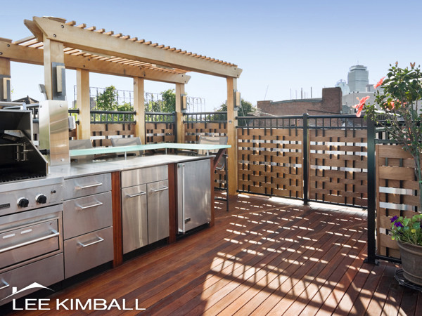 South End Roof Deck Contemporary Patio