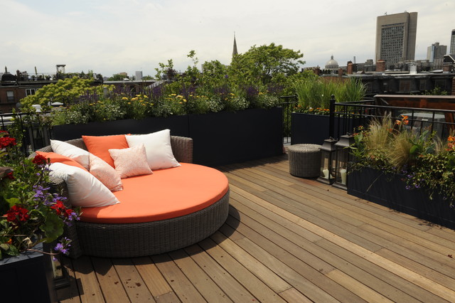 South End Row House Makeover  Contemporary  Patio  boston  by