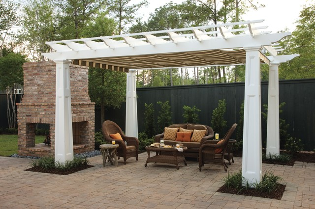 Southern Living Louisiana Idea House traditional-patio