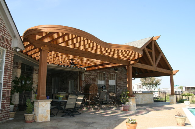 Southwest fence deck arbors traditional patio for Southwest pergola