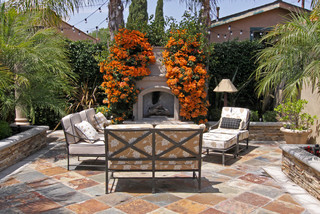 Spanish Bungalow Mediterranean Patio Orange County