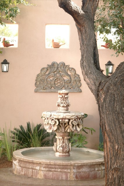 SPANISH  STYLE COURTYARD mediterranean-patio